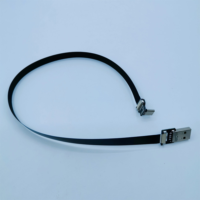 FFC USB Type C 90 Degree to USB A male FPV Flat Slim Thin Ribbon FPC Cable