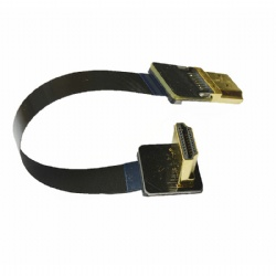 FPV Dual 90 Degree HDMI Type A Male to Male HDTV FPC Flat Cable
